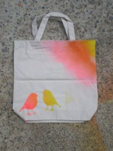 Finished canvas grocery bag