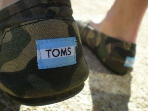 My husband\'s new TOMS shoes