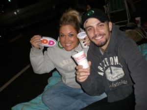 Alanna and JJ at Dunkin\' Donuts