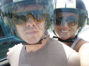 Me and Tim on the scooter