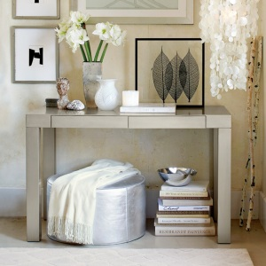 Silver Parsons Desk from West Elm