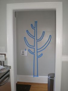 Wall tree outline