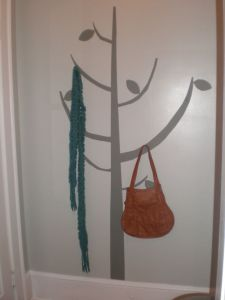 The finished product-- our wall tree