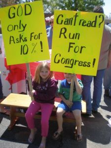 Great Signs at One South Carolina TEA Party