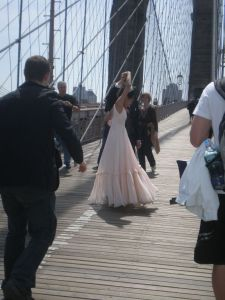 This Gorgeous Bride was Dancing on the Brooklyn Bridge When We Got There