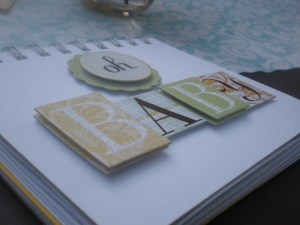Baby Shower Scrapbook