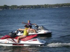 Jet Skiing on Lake Okoboji