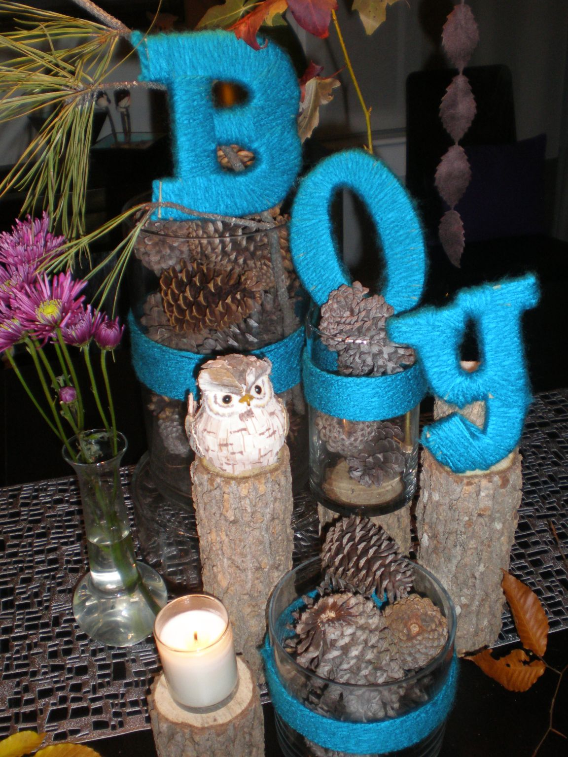 Handmade holidays fun with yarn and coffee filters the for Baby boy decoration