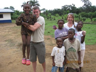 Tim and I in Liberia
