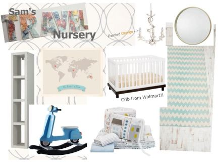 Sam's Nursery Inspiration Board